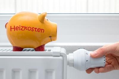 Heizkosten sparen mit Sparschweinchen