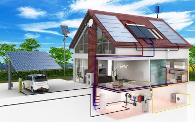 Hybridheizung im Einfamilienhaus