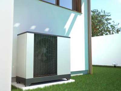 Wärmepumpe am Einfamilienhaus